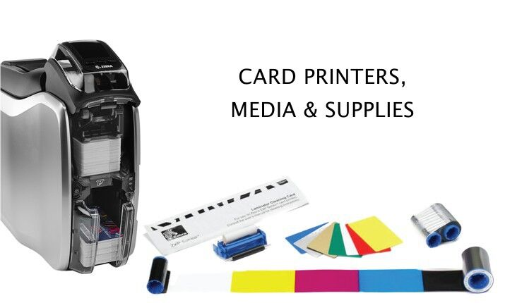 Card printers, media, supplies